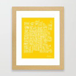 denver neighborhood print [hand drawn] Framed Art Print