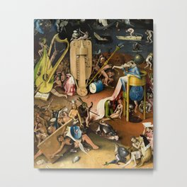 The Garden of Earthly Delights - Bosch - Hell Bird Man Detail Metal Print
