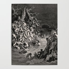 World Destroyed by Water Gustave Dore, 1866 Poster