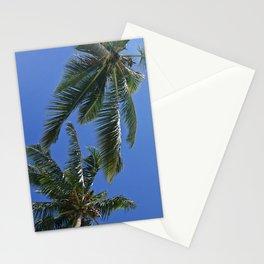 Palm trees, blue sky Stationery Cards