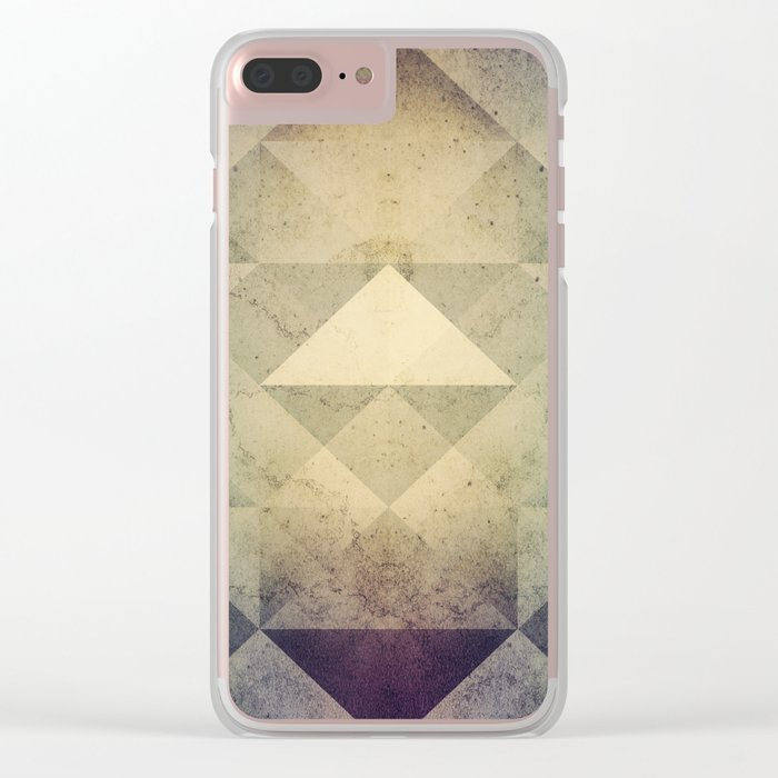 Triangles XXVII Clear iPhone Case
