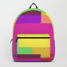 Colorful Retangles 2 Abstract Art Pattern Digitalart Home Decor Gift Backpack