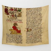 christ Wall Tapestries featuring Jesus Christ Manuscript 1 by Limitless Design