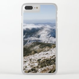 Cannon Mountain from Mt. Lafayette Clear iPhone Case