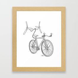 helibike Framed Art Print
