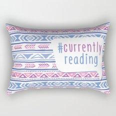 #CurrentlyReading Triabal print Rectangular Pillow