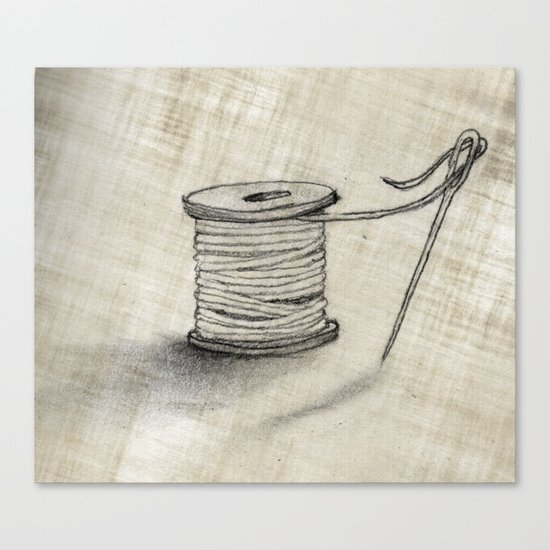 Sewing Time Canvas Print