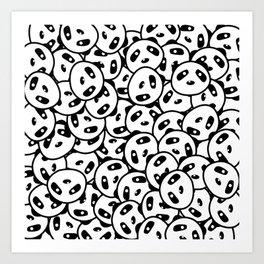Pandamonium (Patterns Please) Art Print