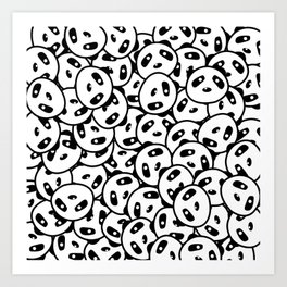 Pandamonium (Patterns Please) Art Print