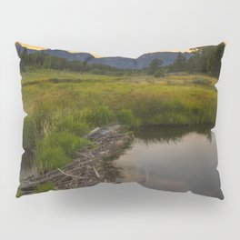 Grant Teton National Park Mountain Sunset Pillow Sham