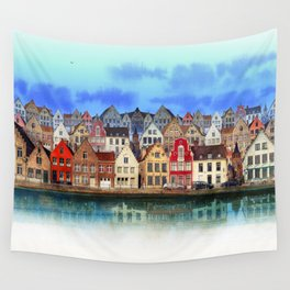 House, Bruges, Belgium Wall Tapestry