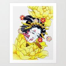 Japanese Namakubi Flowers Art Print