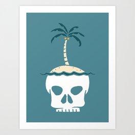 Skull Island – Blue Art Print