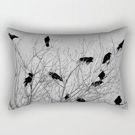 Murder Of Crows - Five Rectangular Pillow