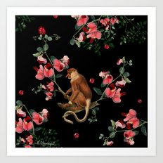 Monkey World: Nosy Art Print