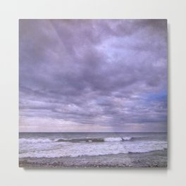 Purple sunset at the beach Metal Print