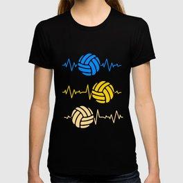 Volleyball Heartbeat Heartline Ball Sports T-shirt