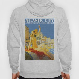 Atlantic City New Jersey - Retro Travel Hoody