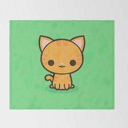 Kawaii Kitty 2 Throw Blanket