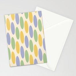 Mid Century Modern Geometric oval Pattern 729 Stationery Cards