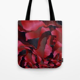 Red frayed abstraction Tote Bag