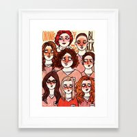 oitnb Framed Art Prints featuring OITNB by Luiza Abend