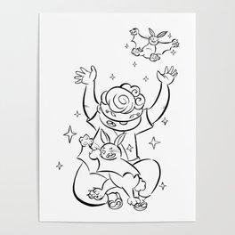 Ninja Master of Magic - ink Poster