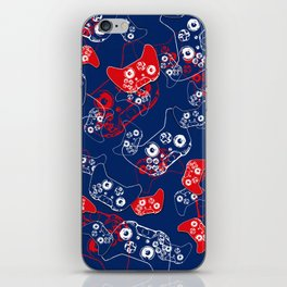 Video Game Red White & Blue 2 iPhone Skin