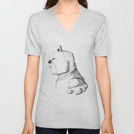 Walden Bear 'en profil' Unisex V-Neck