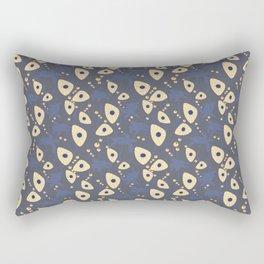 Swimming Turtles blue Rectangular Pillow