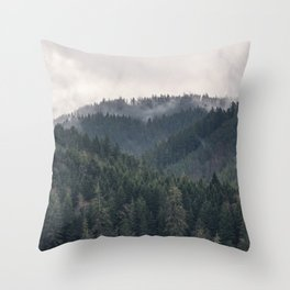 Pacific Northwest Forest - Nature Photography Throw Pillow