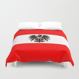 Austrian Flag and Coat of Arms Duvet Cover