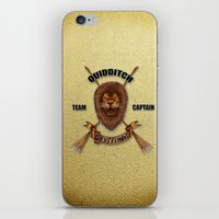 quidditch iPhone & iPod Skins featuring Gryffindor Quidditch Team Captain by JanaProject