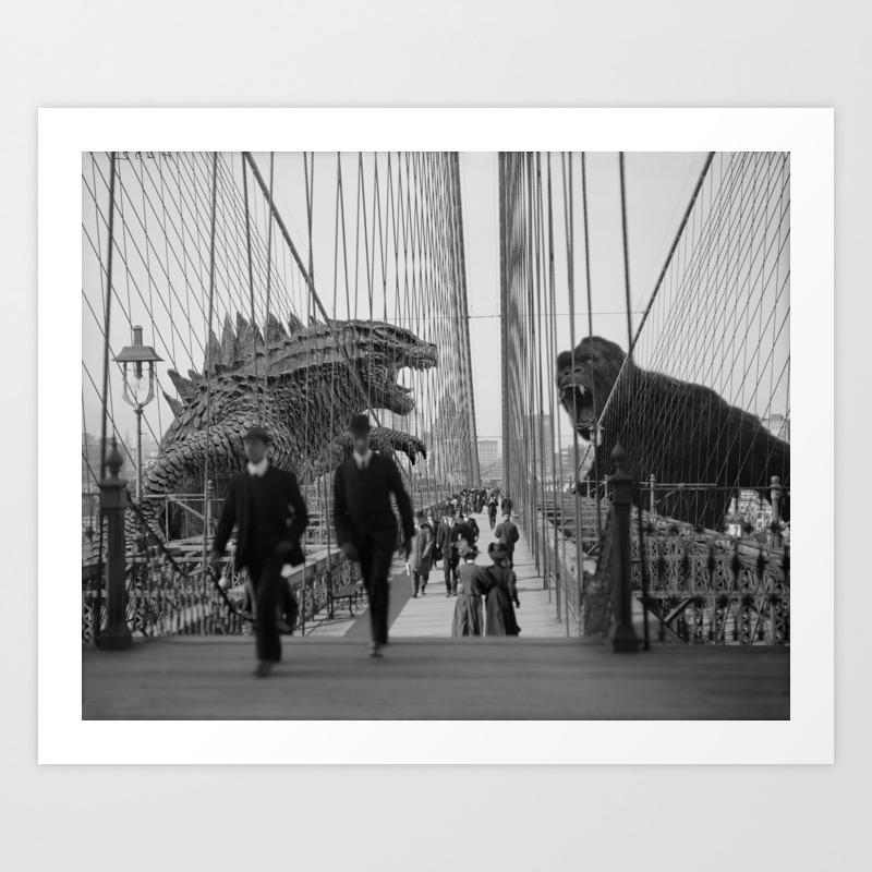Old Time Godzilla Vs. King Kong Art Print by Taylor_holmes PRN6850196
