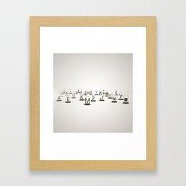 Typography Jars Framed Art Print