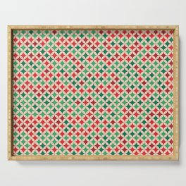 Multicolored Stars Pattern Serving Tray