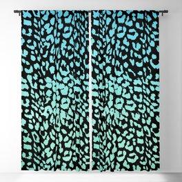 Leopard Blue Watercolor Gradient Blackout Curtain