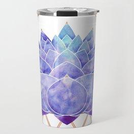 Violet Zen Lotus Travel Mug
