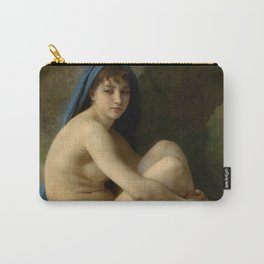 """William-Adolphe Bouguereau """"Seated Nude"""" Carry-All Pouch"""