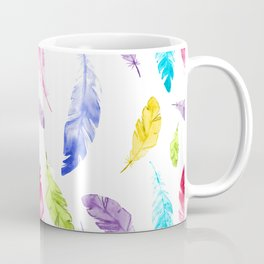 Colorful Feather Pattern Coffee Mug