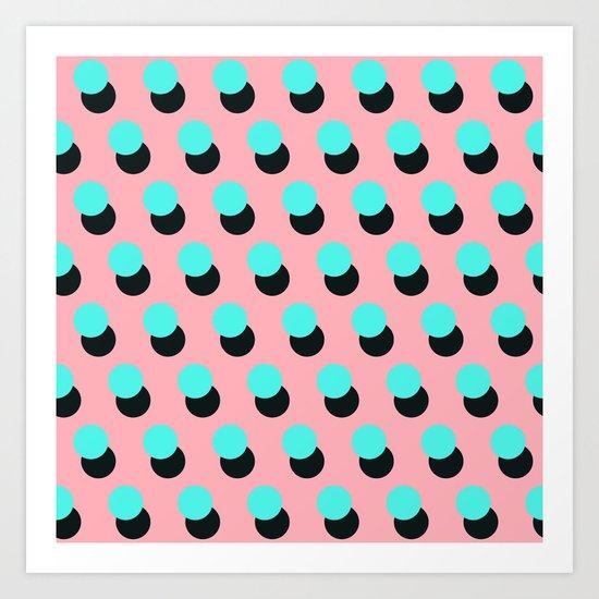 Memphis pattern 14 Art Print
