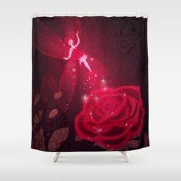 Rose Fairy Shower Curtain