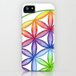 Rainbow Flower of Life - Rainbow Tribe Collection iPhone Case