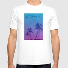 California Dreamin' Mens Fitted Tee White SMALL
