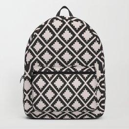 Modern black blush pink wild ethno pattern Backpack