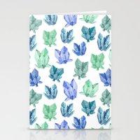 crystals Stationery Cards featuring Crystals by Marta Olga Klara