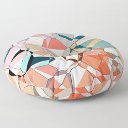 Jumble of Shapes And Colors Floor Pillow