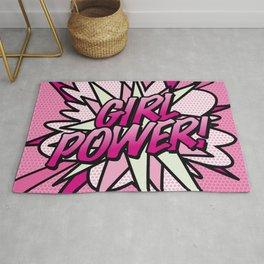 Girl Power Comic Book Pop Art Pink Fun Cool Rug