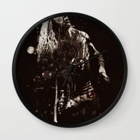 springsteen Wall Clocks featuring The Wrestler by  Maʁϟ