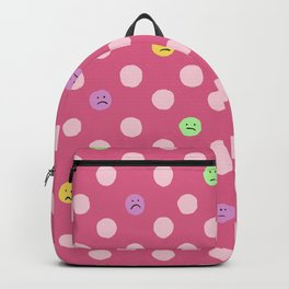 Sad Polka Dots Pink Multi Color Backpack